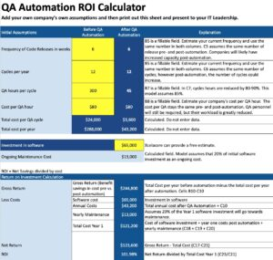 QA Automation ROI Calculator